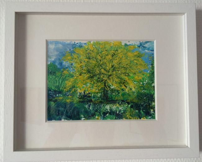 Acryl auf Aquarellpapier Format 32,5 x 26,5
