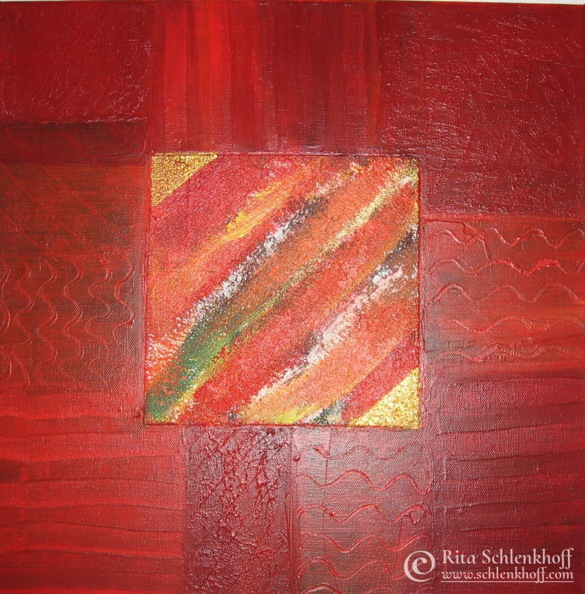 Acryl auf Leinwand Format 40 x 40 cm