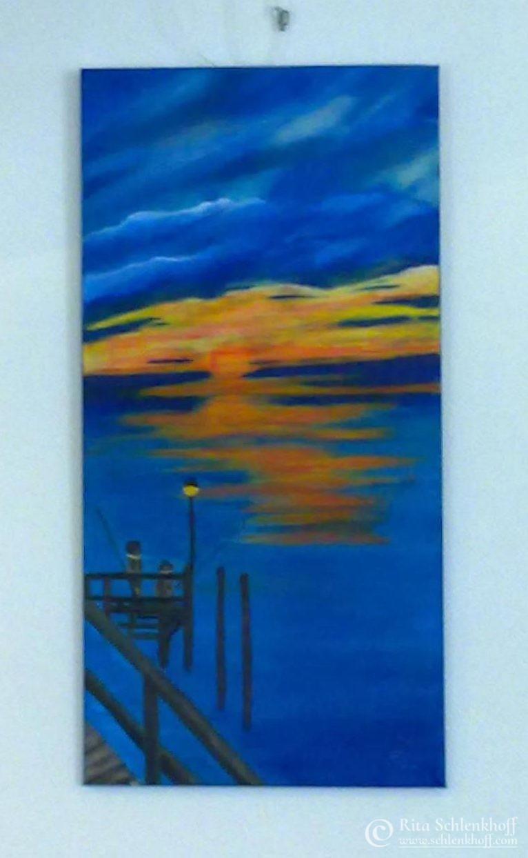 Acryl auf Leinwand 40 x 80 cm, Angeln verboten