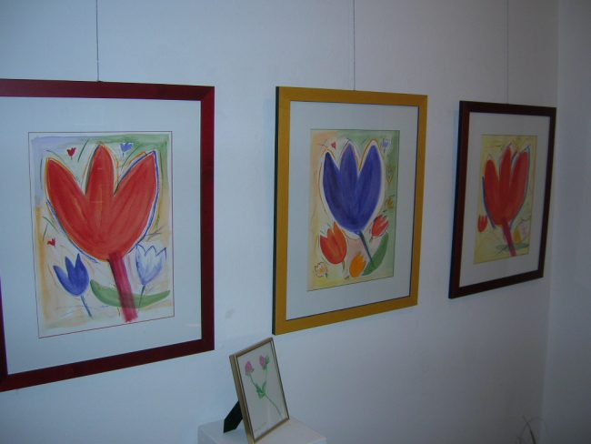 Aquarelle Stilisierte Tulpen