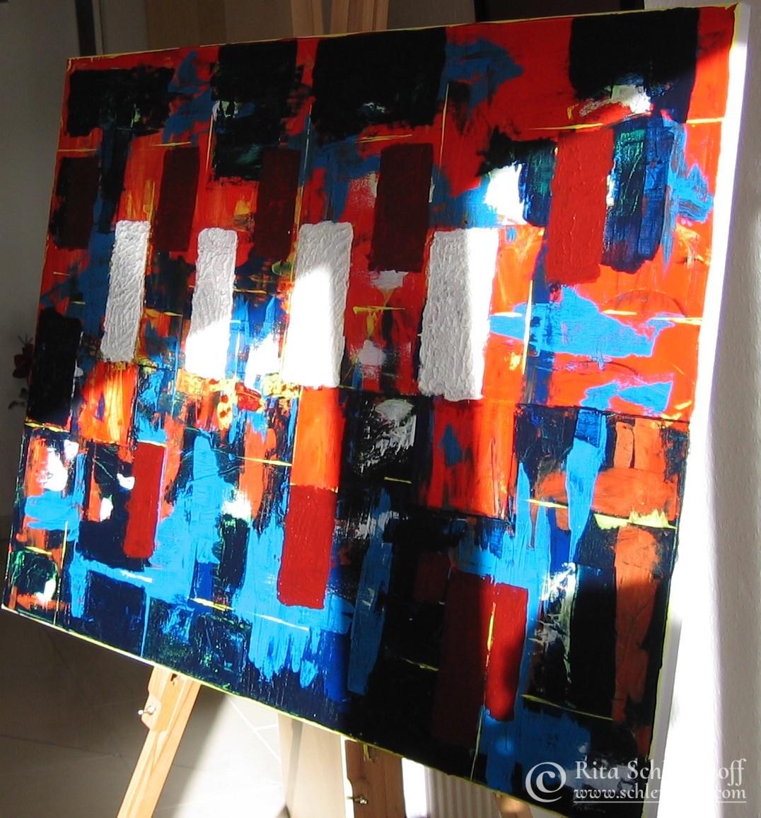 Acryl auf Leinwand 100 x 80 cm, gespachtelt