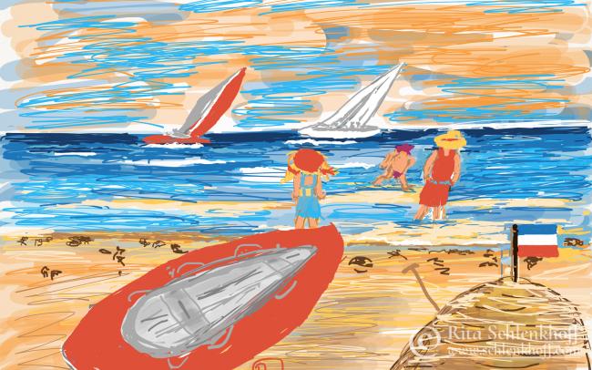 Fingerpainting Postkarten C 6, Summerfeeling