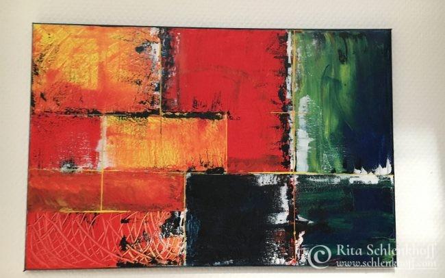 Acryl auf Leinwand gespachtelt 60 x 40 cm