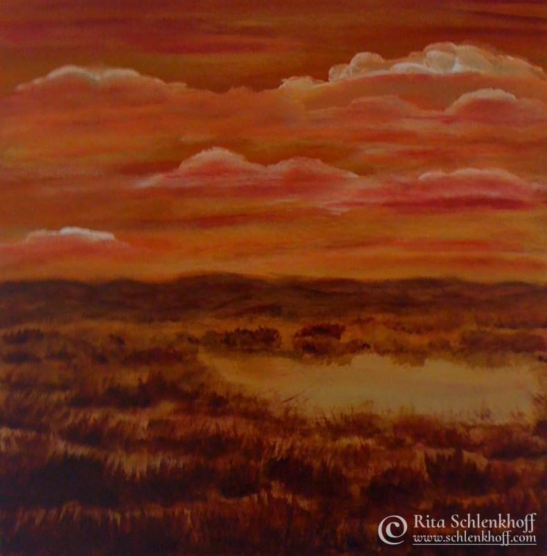 Acryl auf Leinwand 40 x 40 cm, Im Moor
