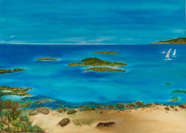 Am Meer - Acryl auf Leinwand 60 x 50 cm, In der Bretagne