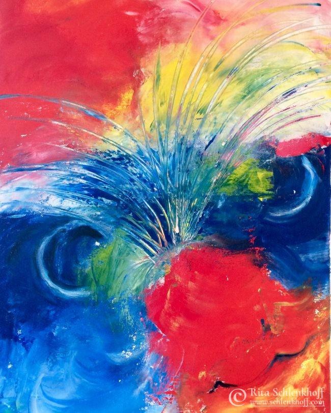 Abstrakte Malerei, Acryl auf Leinwand