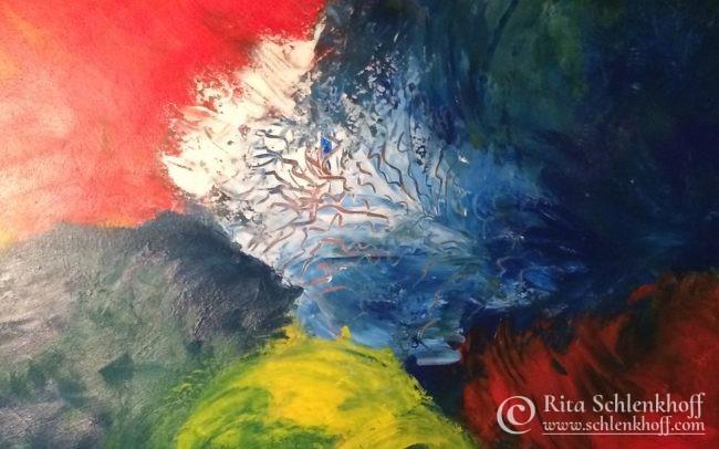 Acryl auf Leinwand 80 x 40 cm, abstrakte Malerei