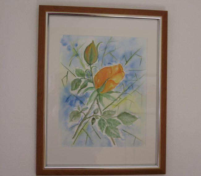 Aquarell mit Passepartout Format 30 x 40 cm
