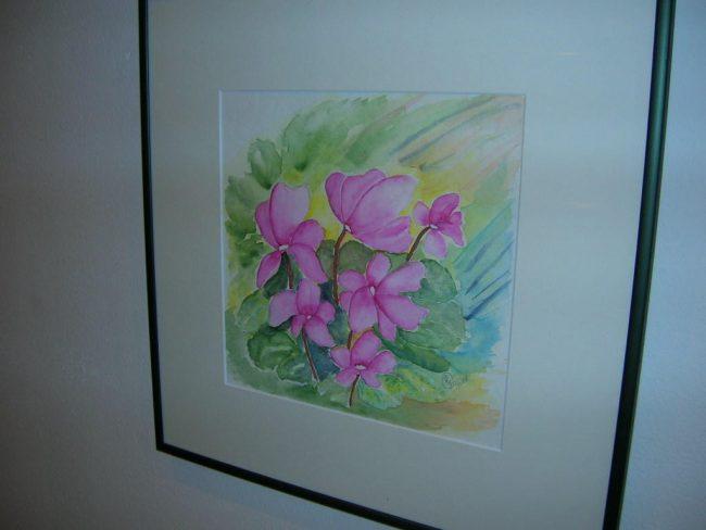 Aquarell mit Passepartout Format 50 x 50 cm